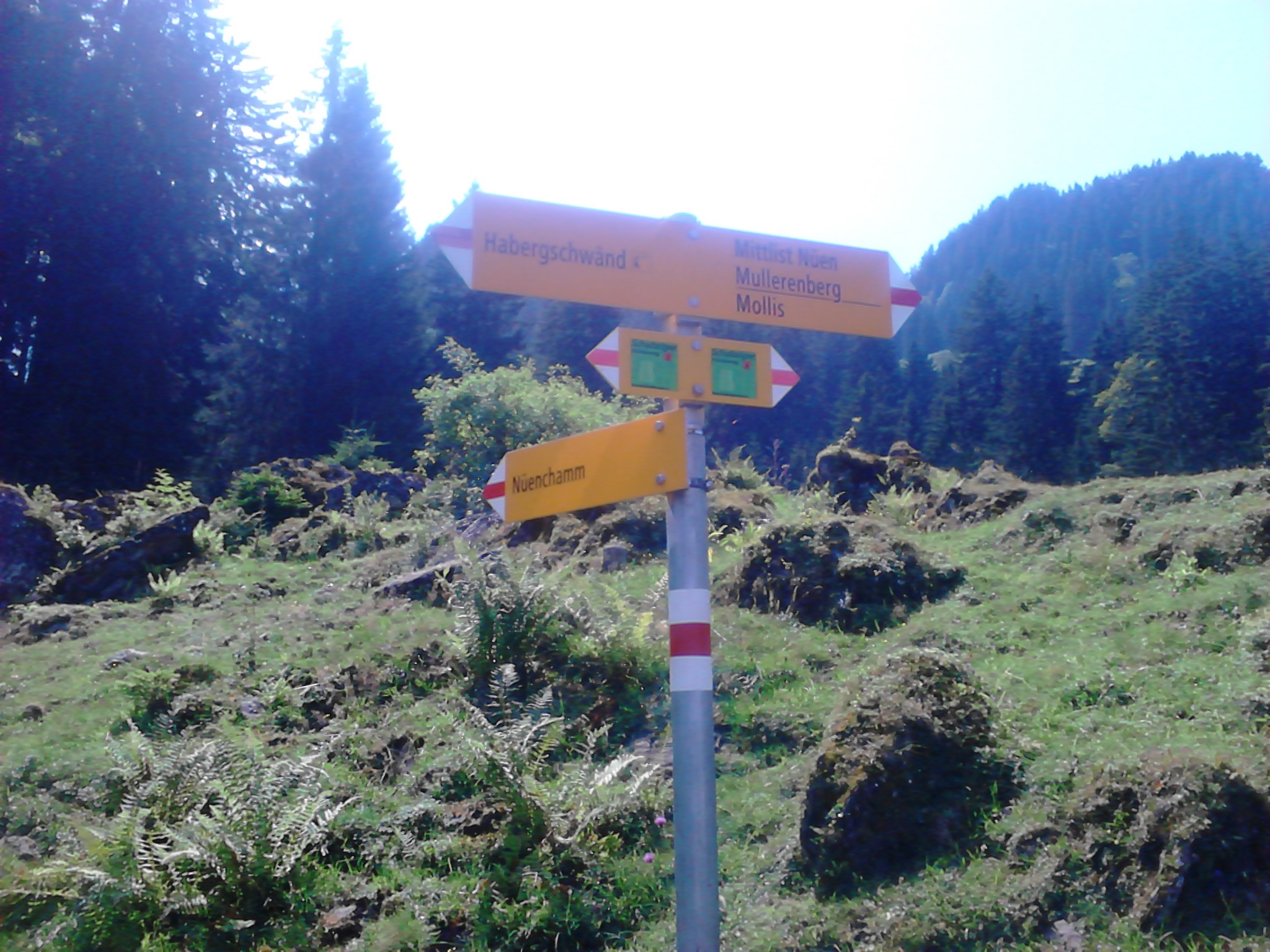 Wanderweg sign